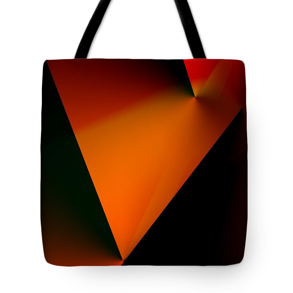 Abstract Tote Bag featuring the digital art Clean Angled Composition by Ian MacDonald