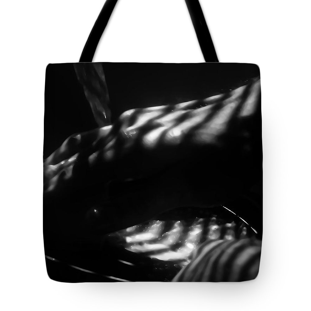 Black Tote Bag featuring the photograph Clean by Jessica Shelton