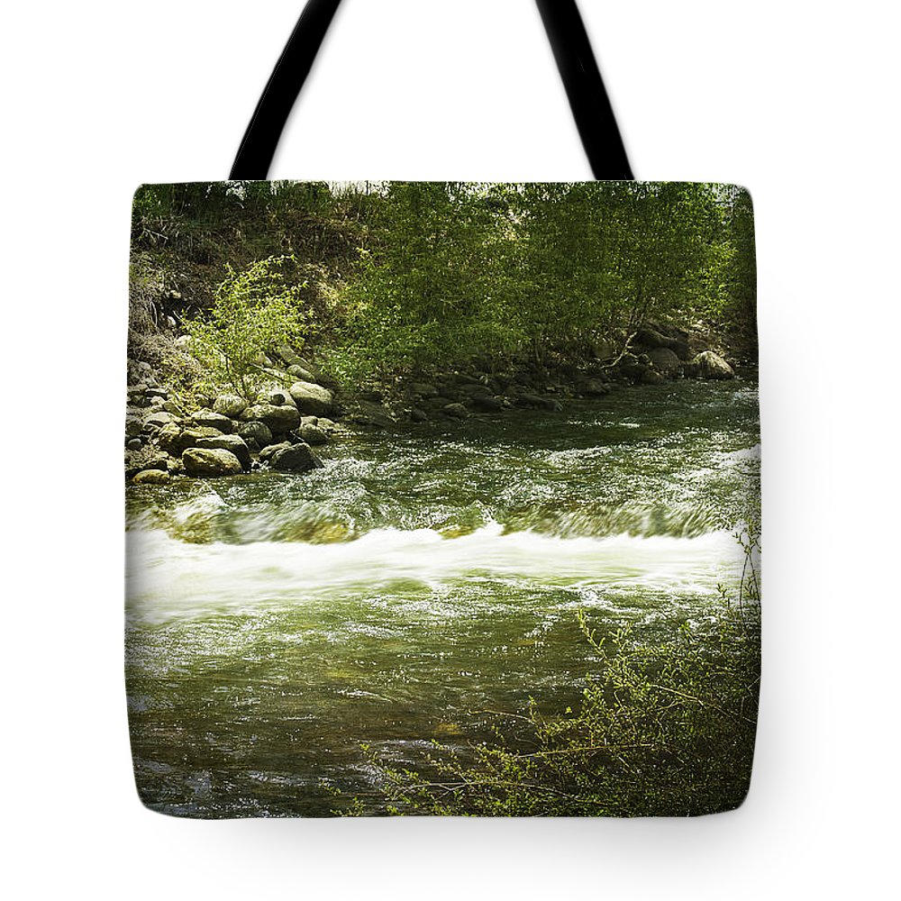 Creek Tote Bag featuring the photograph Clear Creek In Colorado by Judy Hall-Folde
