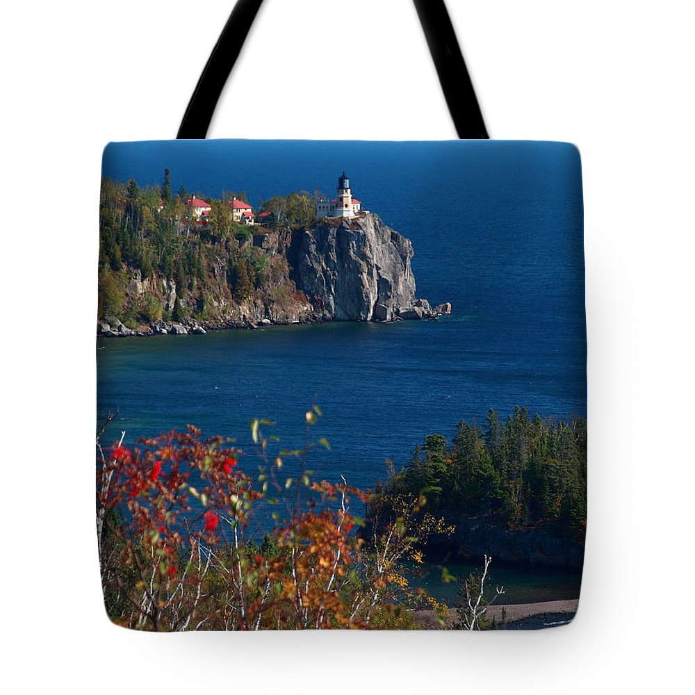 Sold Tote Bag featuring the photograph Cliffside Scenic Vista by James Peterson