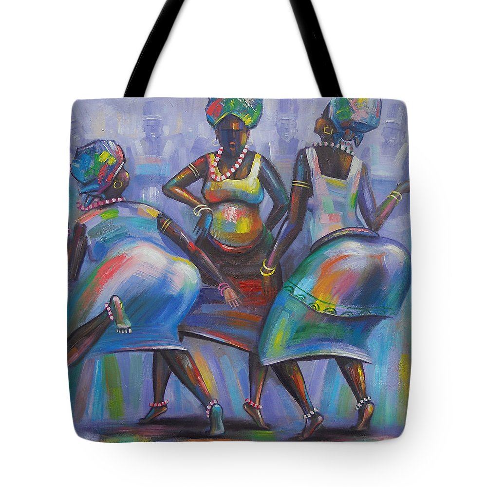 Amakai Tote Bag featuring the painting Climax by Amakai