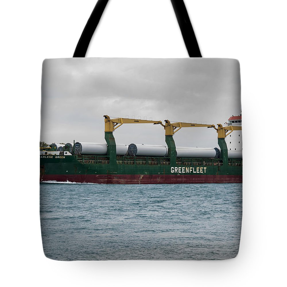 Clipper Tote Bag featuring the photograph Clipper Marlene Green Ship by Paul Cannon