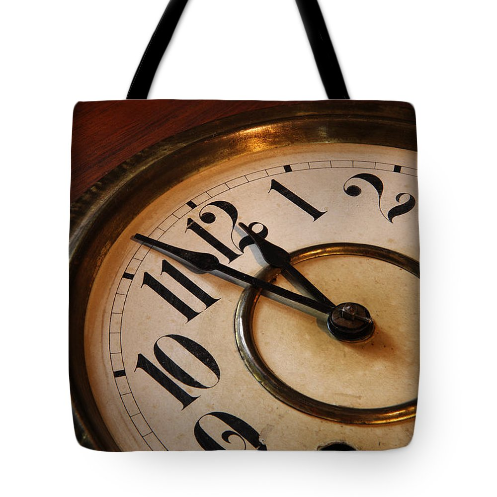 Very Tote Bag featuring the photograph Clock face by Johan Swanepoel