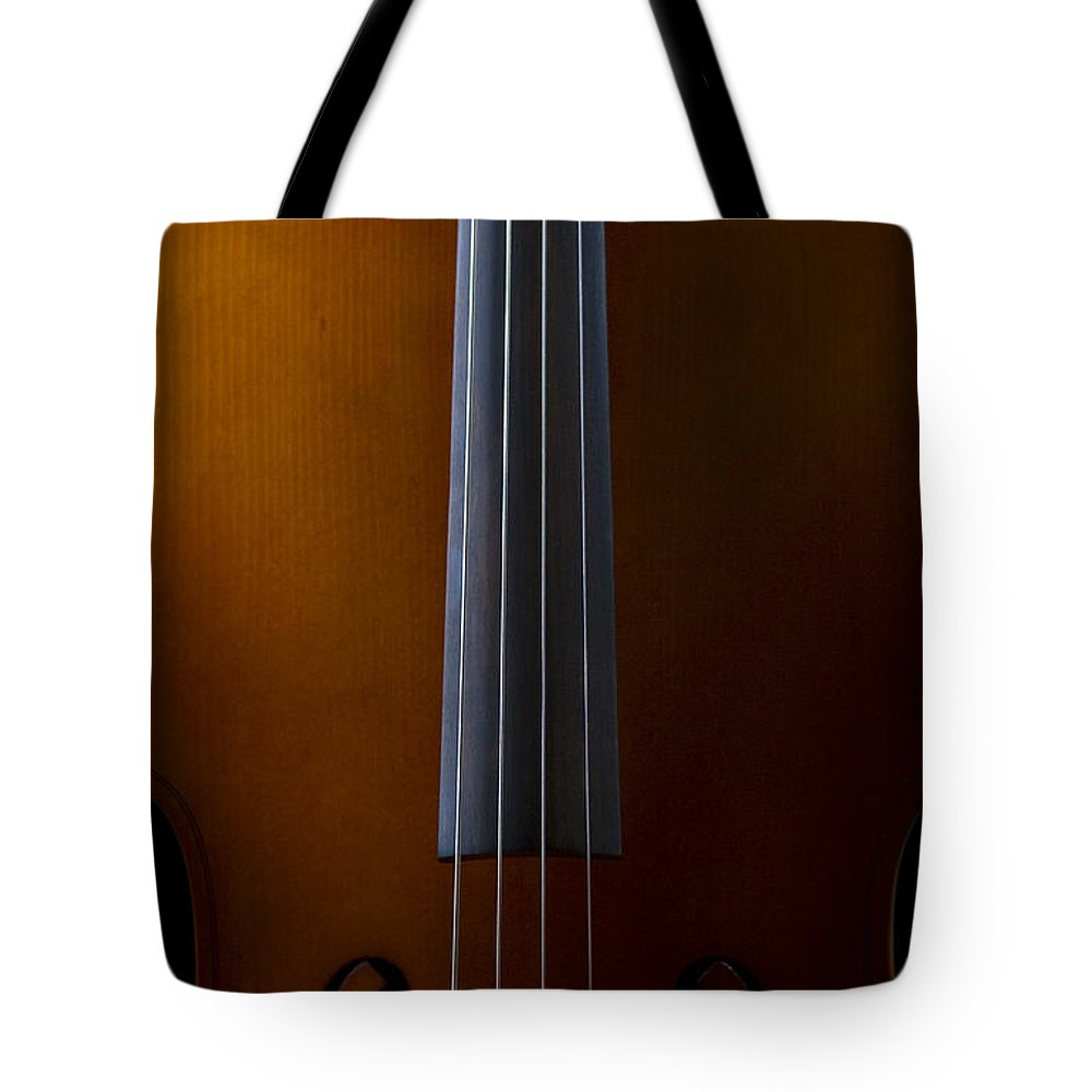 Light Tote Bag featuring the photograph Close Up Of Cello by Kent Smith