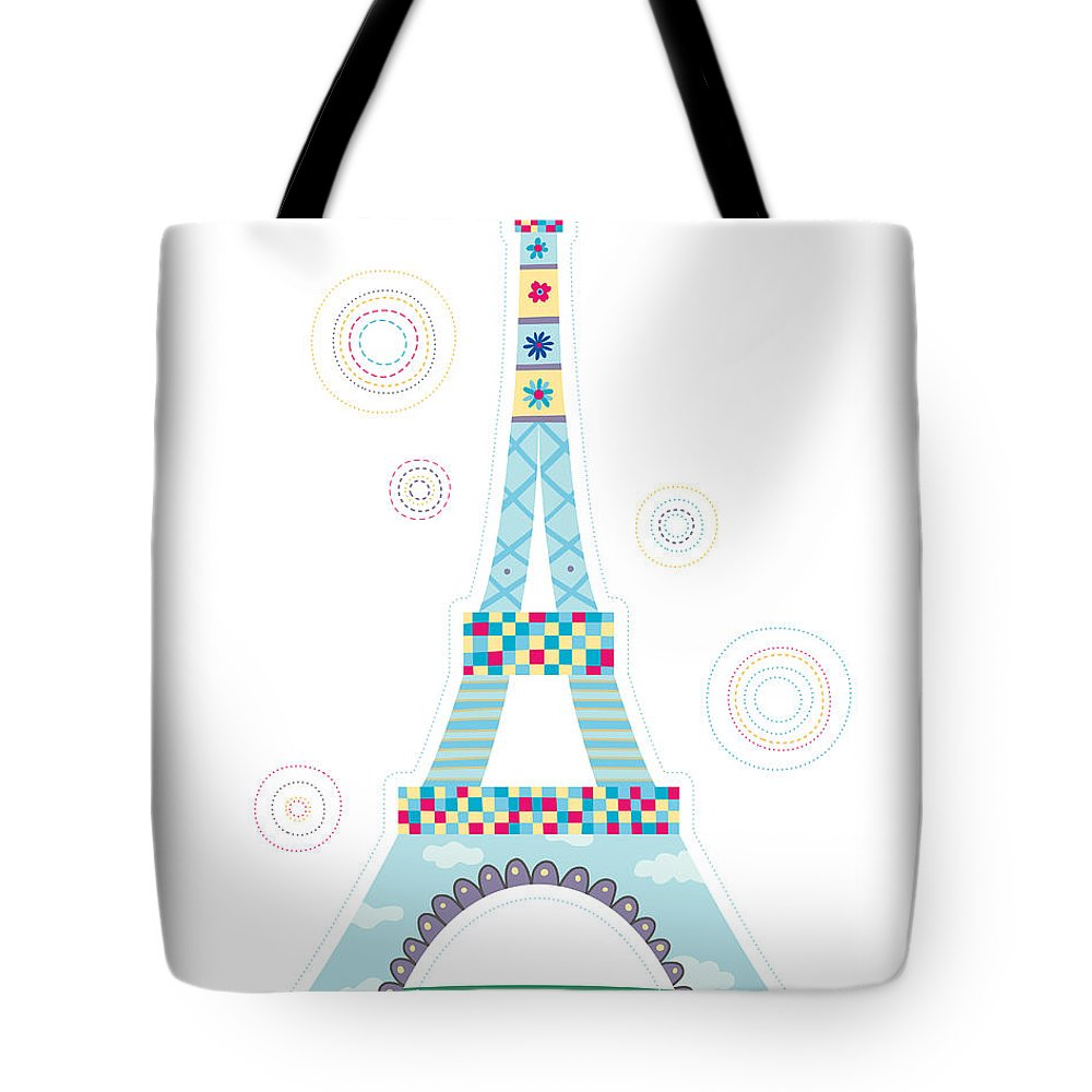 Event Tote Bag featuring the digital art Close-up Of Tower by Eastnine Inc.