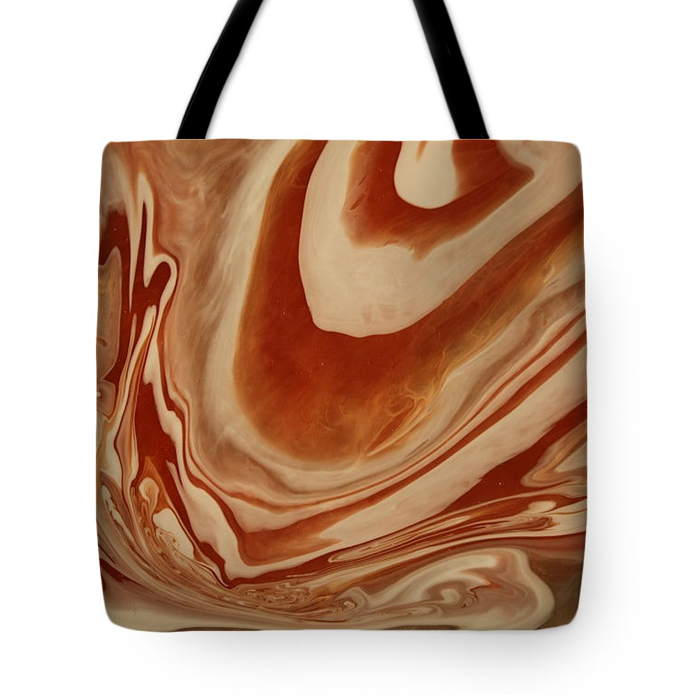 Pour Tote Bag featuring the painting Poured Agate Painting 8 Close-up One by Kirsten Gilmore