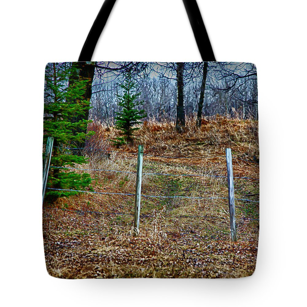 Closed Tote Bag featuring the digital art Closed Road by Lori Frostad