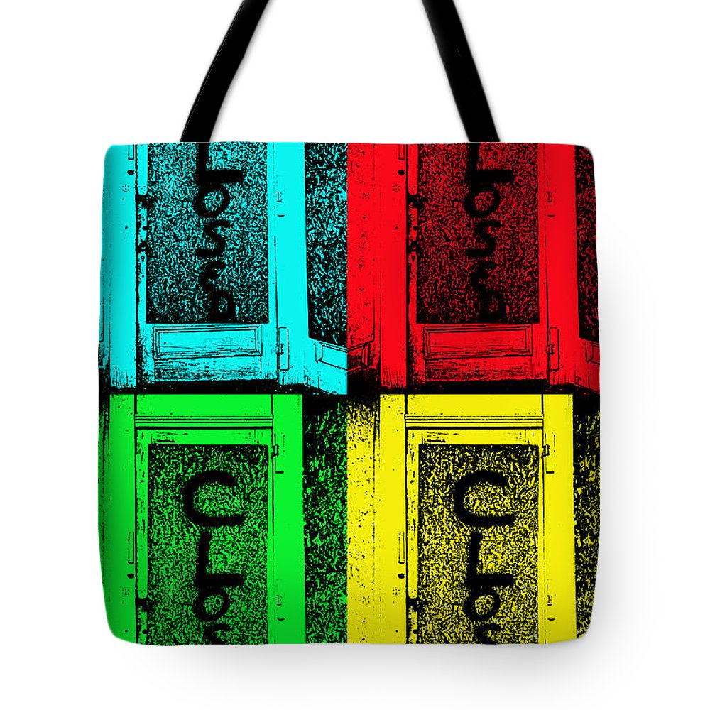Closed Sign Tote Bag featuring the photograph Closing Time by Kristie Bonnewell