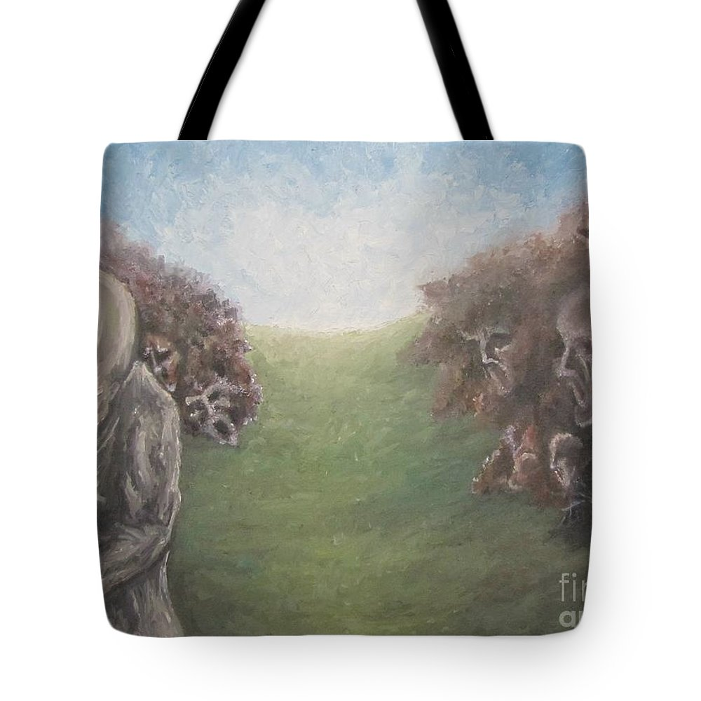 Tmad Tote Bag featuring the painting Closure by Michael TMAD Finney