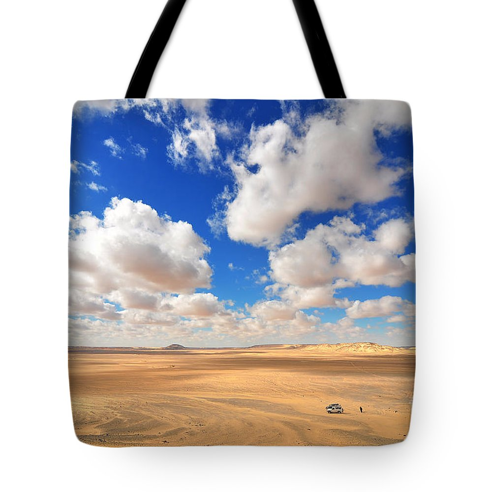 Desert Tote Bag featuring the photograph Cloudscape At Sahara Desert by Mu Yee Ting