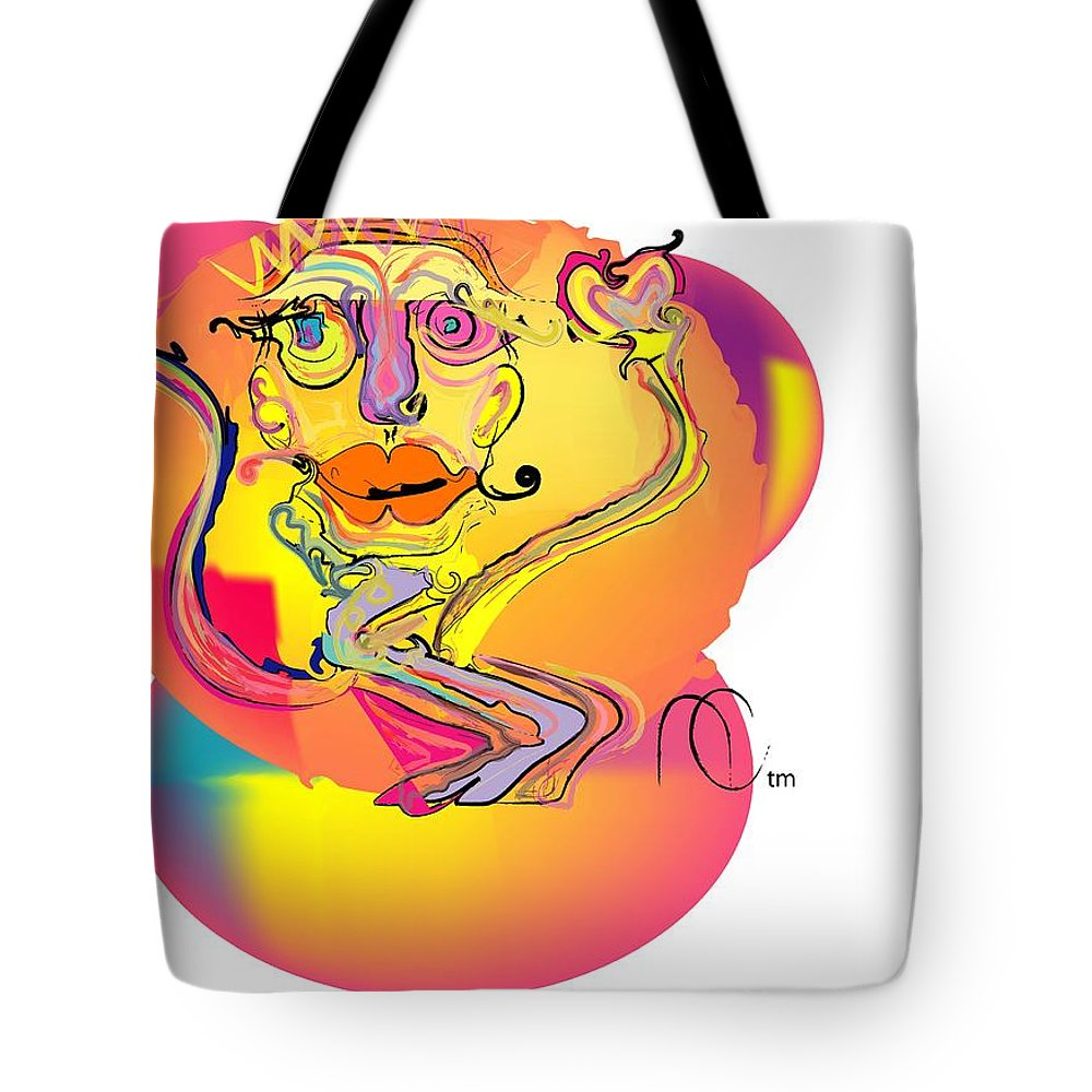 Life's Crazy Tote Bag featuring the digital art Cloud Dancer by Andy Cordan
