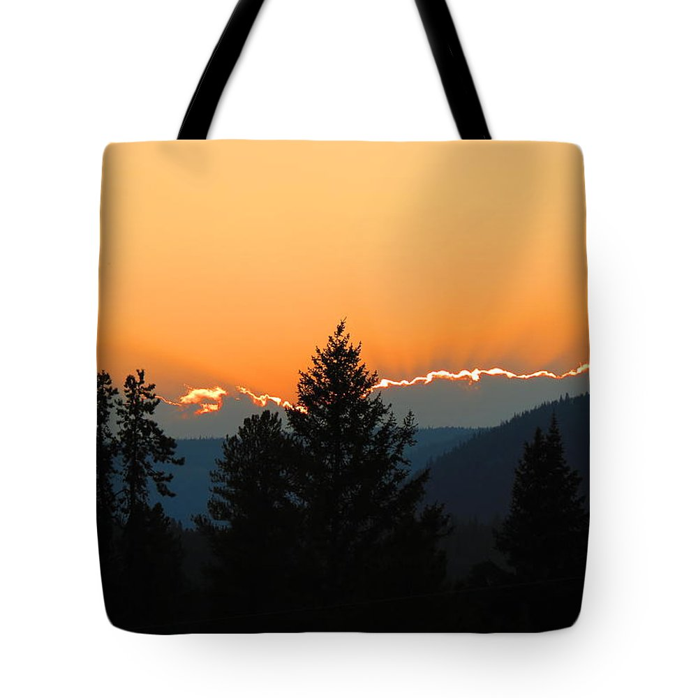 Forest Tote Bag featuring the photograph Cloud Line by Connor Ehlers