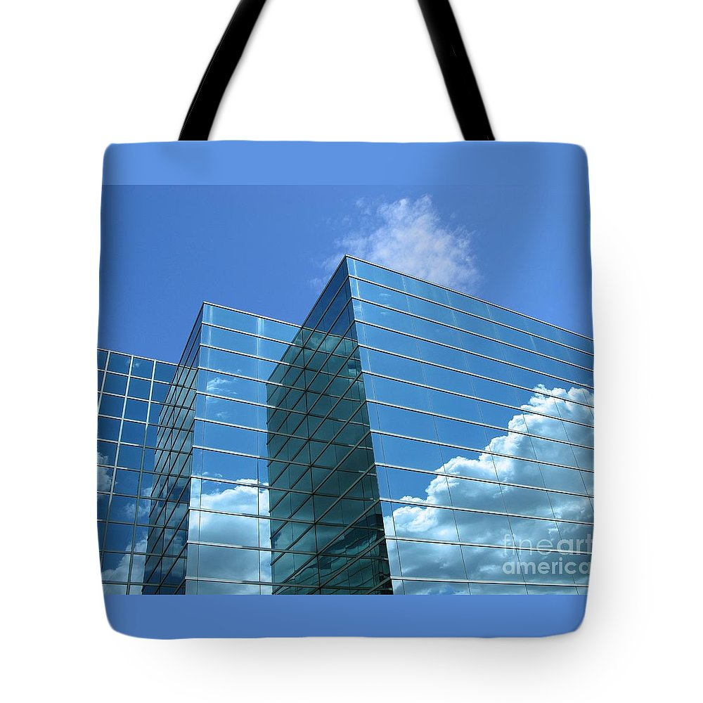 Building Tote Bag featuring the photograph Cloud Mirror by Ann Horn