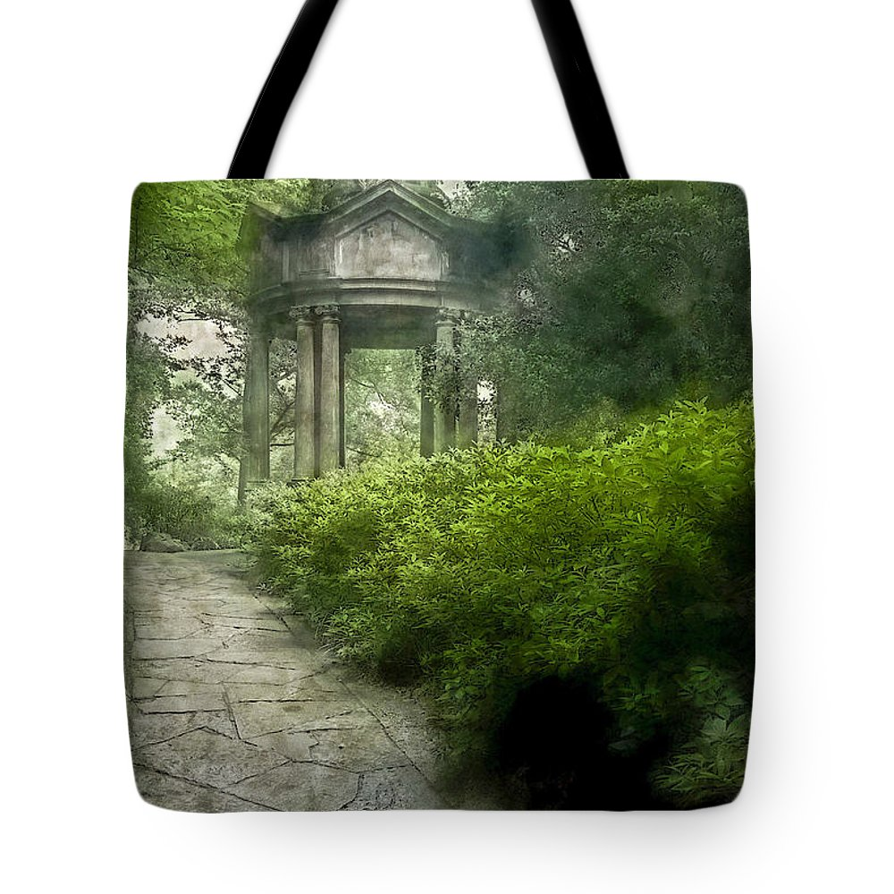 Asia Tote Bag featuring the digital art Cloud Pavilionfluid Colors Hp by David Lange