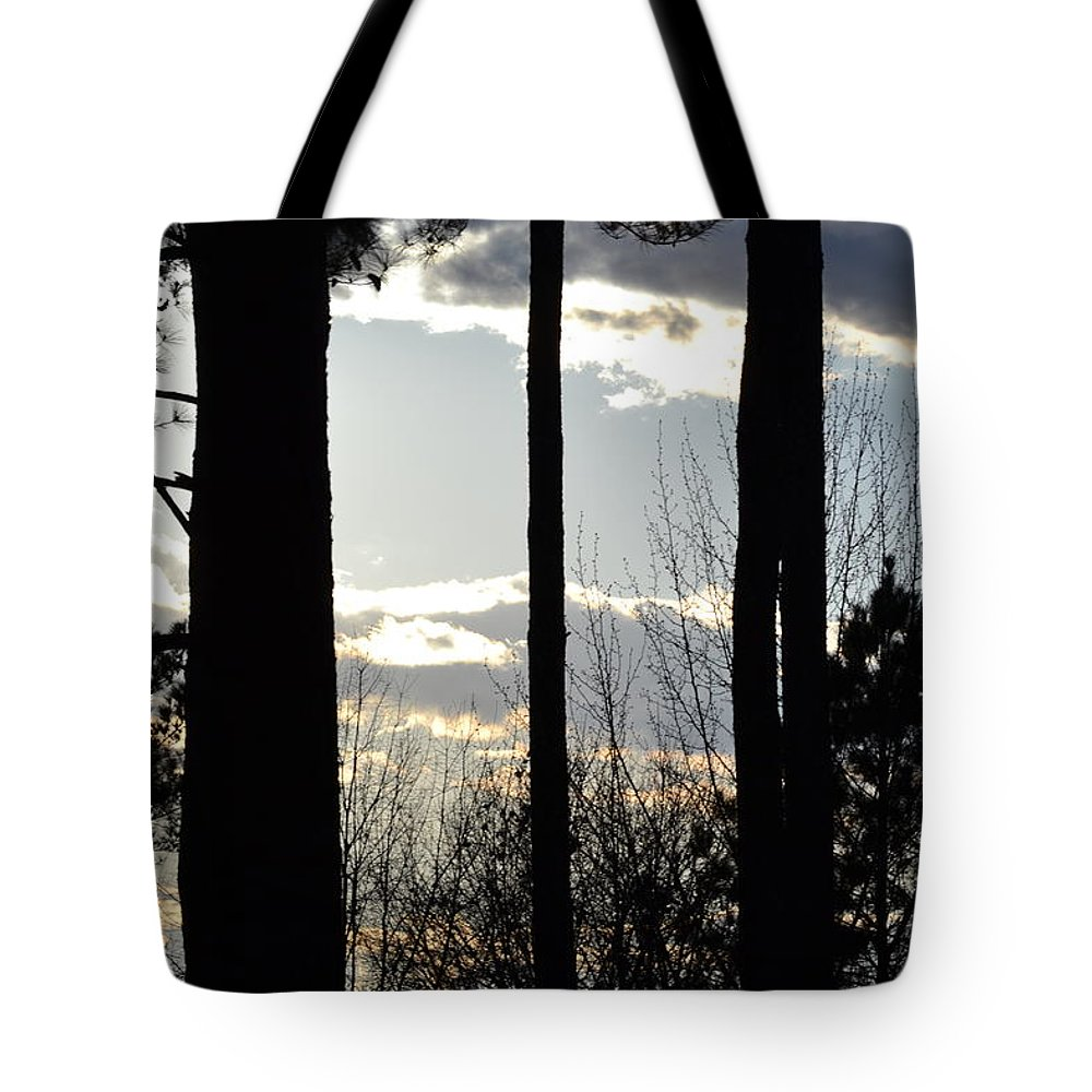 Clouds Tote Bag featuring the photograph Clouds At Dusk by Tara Potts
