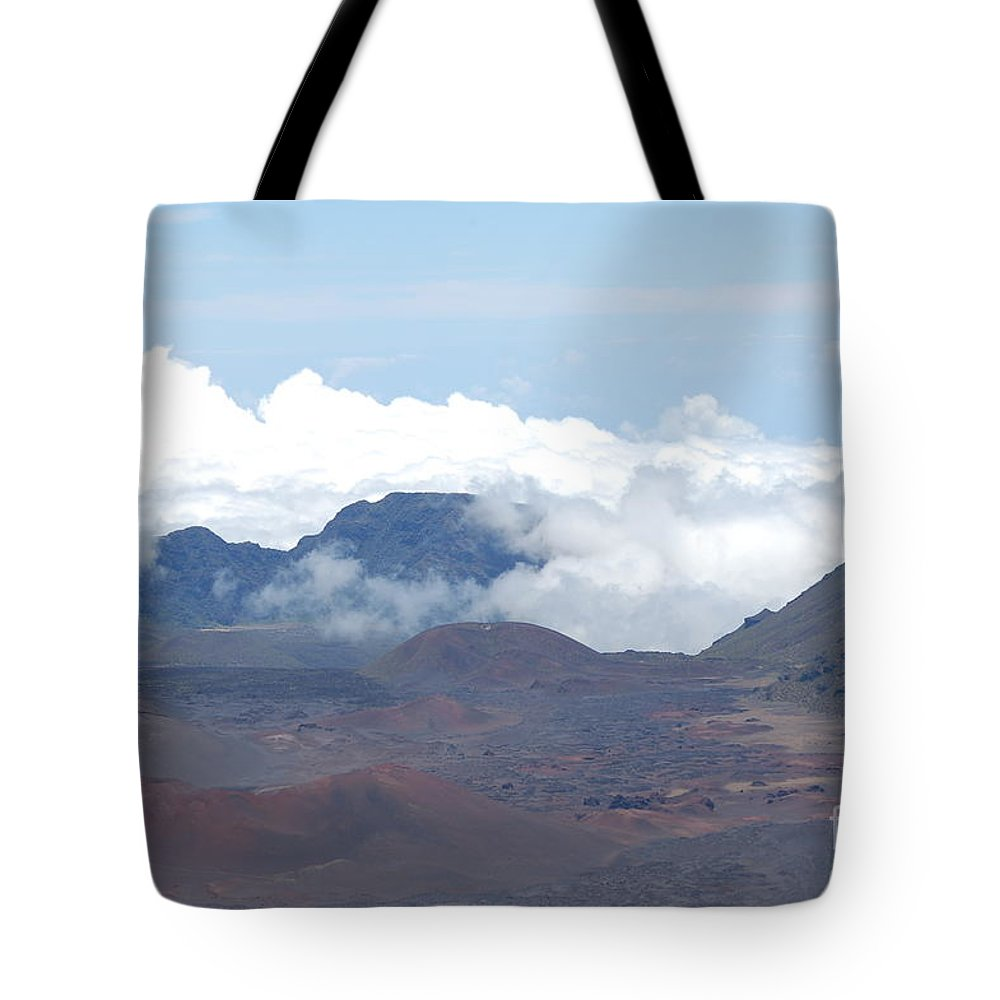 Haleakala Tote Bag featuring the photograph Clouds At Haleakala by Mark Thompson