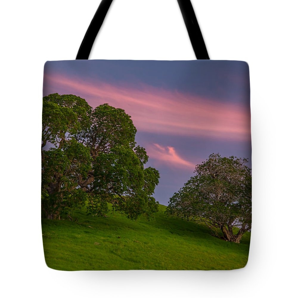 Landscape Tote Bag featuring the photograph Clouds At Twilight by Marc Crumpler