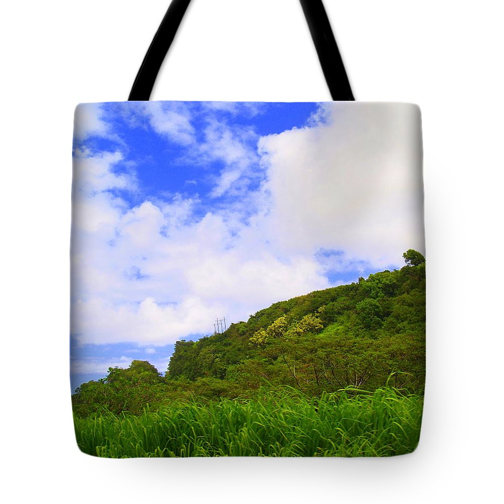 Landscape.seascape Tote Bag featuring the photograph Clouds by Athala Carole Bruckner