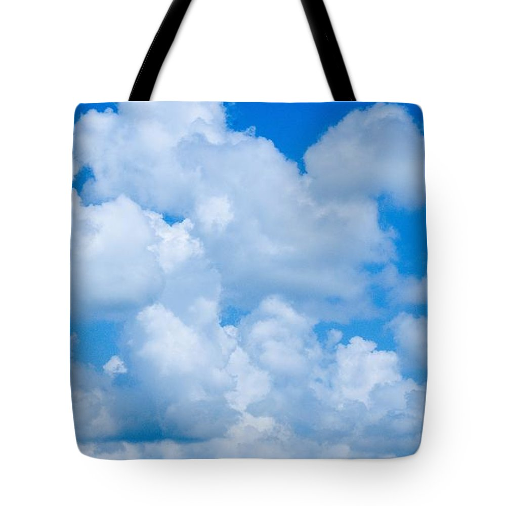 Clouds Tote Bag featuring the photograph Clouds In Blue Sky by FL collection
