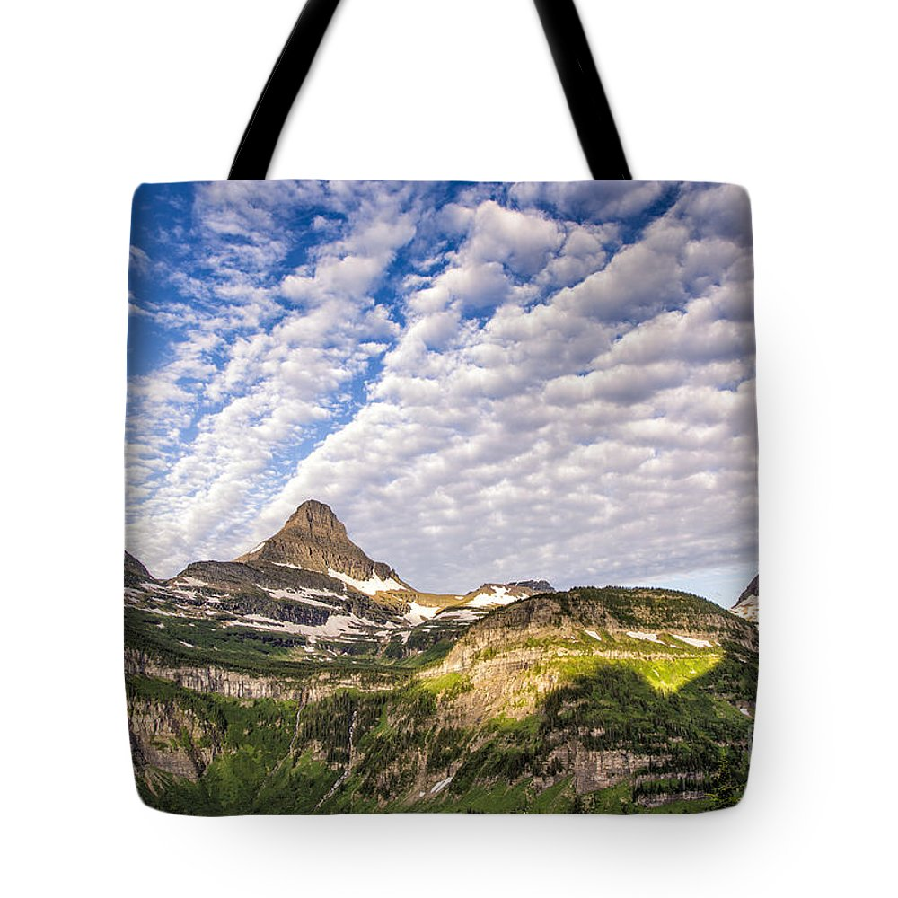 Glacier Tote Bag featuring the photograph Clouds In Glacier by Timothy Hacker