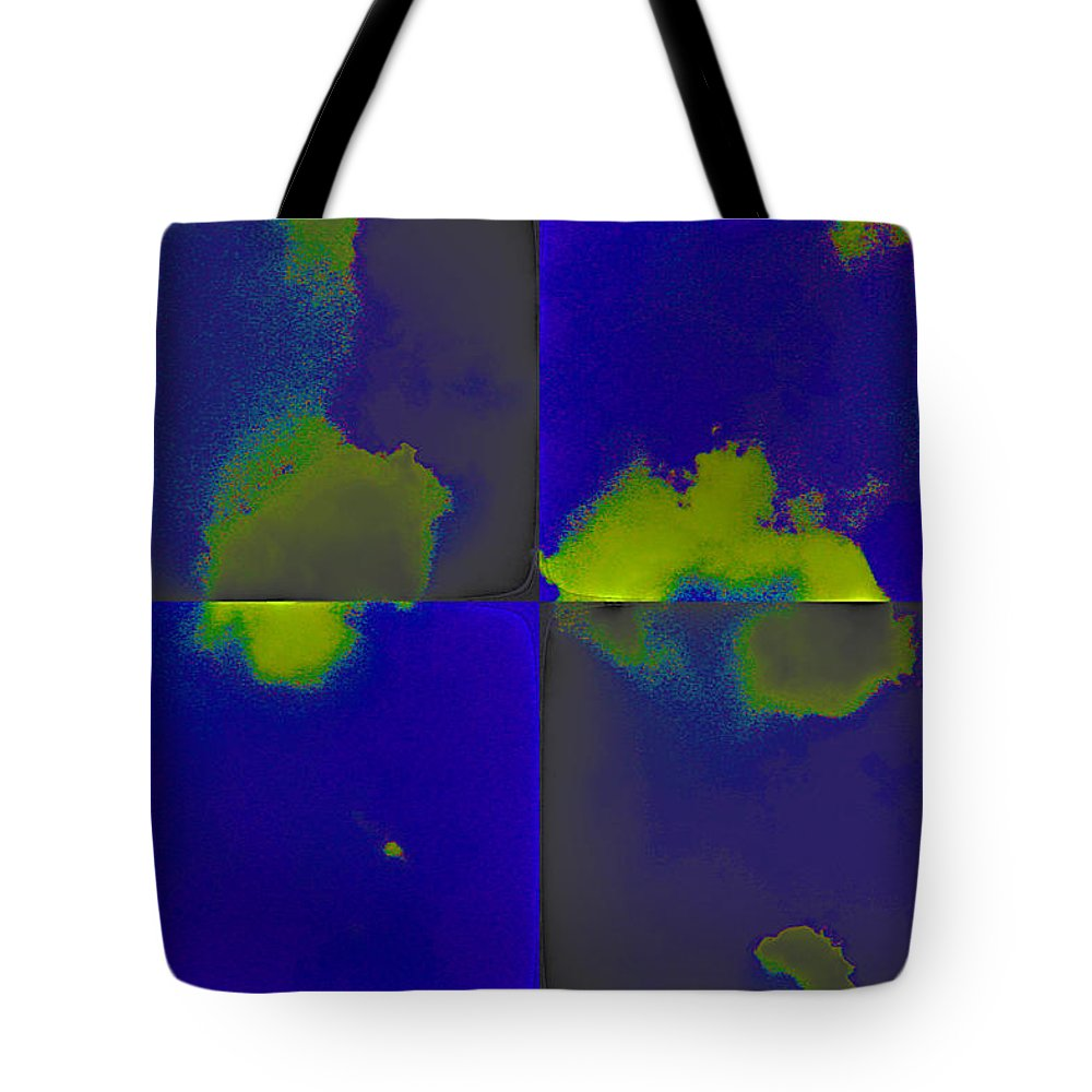 Digital Tote Bag featuring the digital art Clouds by Jack Bowman