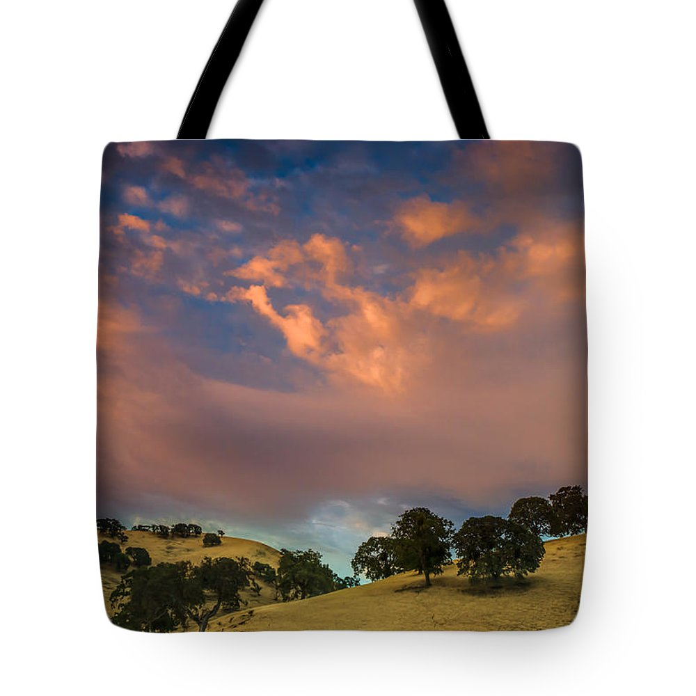 Landscape Tote Bag featuring the photograph Clouds Over East Bay Hills by Marc Crumpler