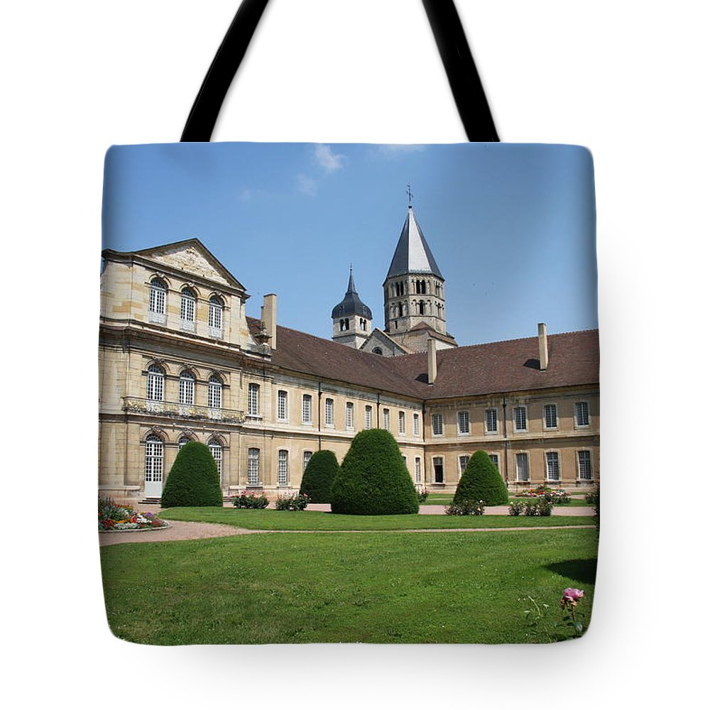 Cloister Tote Bag featuring the photograph Cluny Abbey - Burgundy by Christiane Schulze Art And Photography