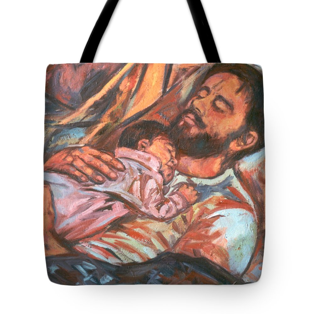 Figure Tote Bag featuring the painting Clyde And Alan by Kendall Kessler