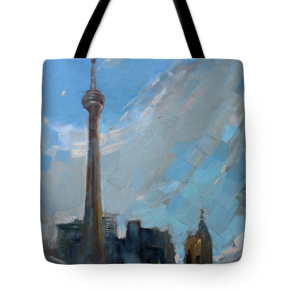 Cn Tower Tote Bags
