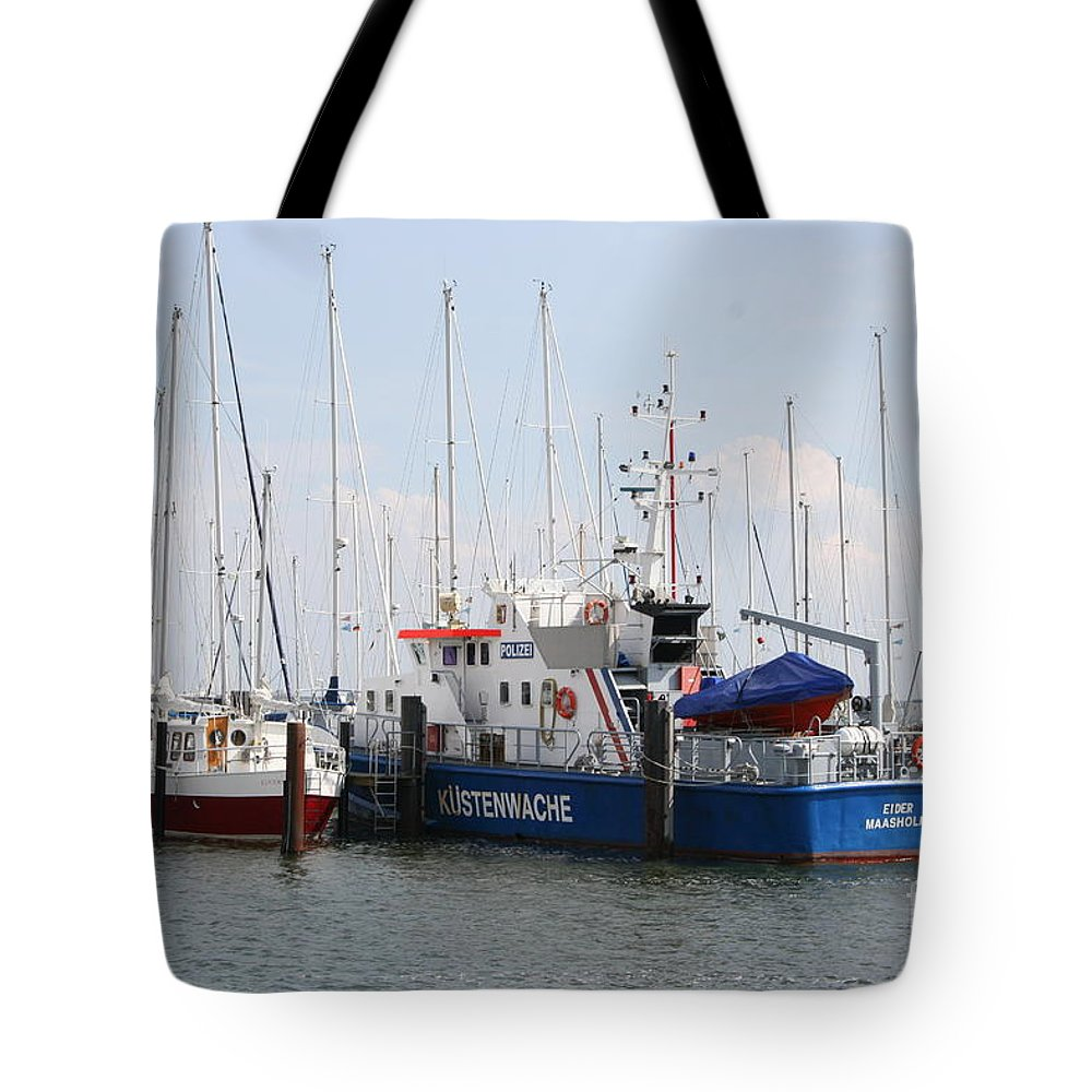 Harbor Tote Bag featuring the photograph Coast Guard Maasholm Harbor by Christiane Schulze Art And Photography
