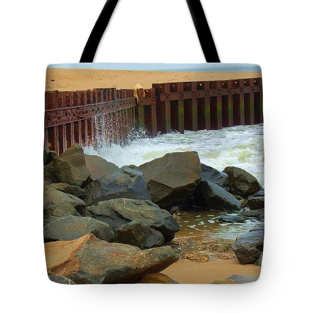 Water Tote Bag featuring the photograph Coast Of Carolina by Debbi Granruth