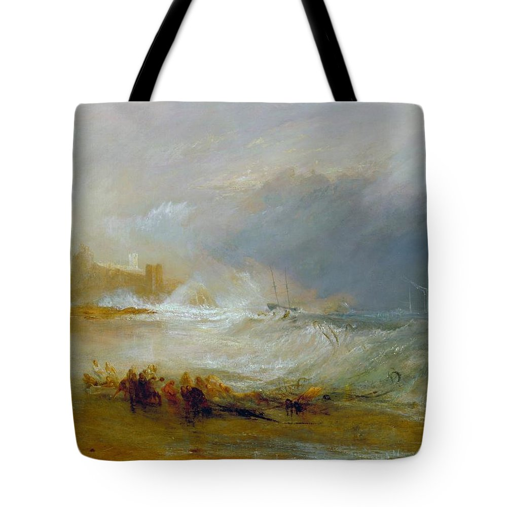 1833 Tote Bag featuring the painting Coast Of Northumberland by JMW Turner