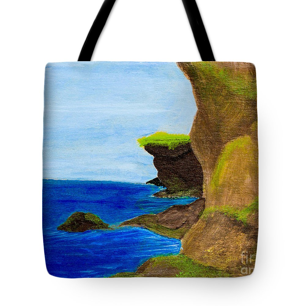 Tote Bag featuring the painting Coast by Stefanie Forck