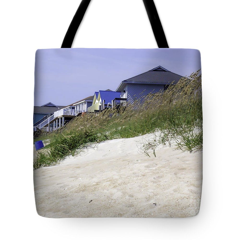 Crissy Anderson Tote Bag featuring the photograph Coastal Living In Topsail Beach Nc by Crissy Anderson