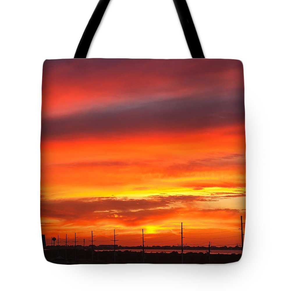 Sunset Tote Bag featuring the photograph Coastal Sunset by Carol VanDyke