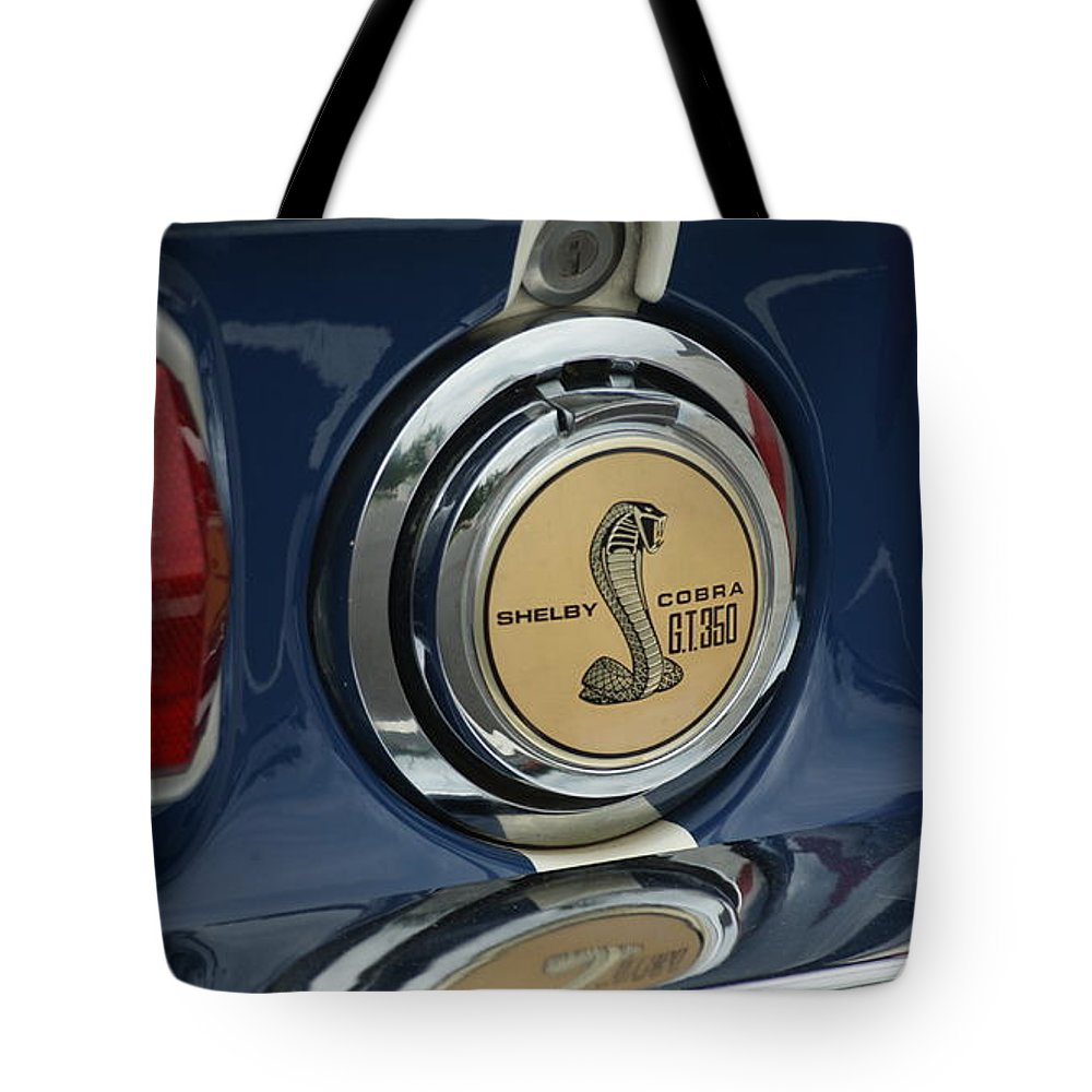 Cobra Tote Bag featuring the photograph Cobra G.t. 350 by Rob Luzier