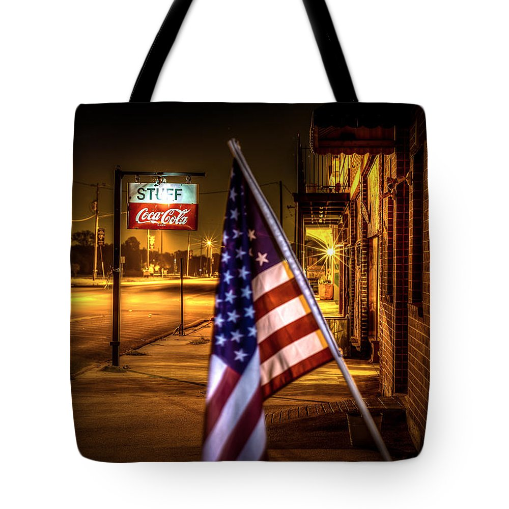 Coca-cola And America Tote Bag featuring the photograph Coca-cola And America by David Morefield