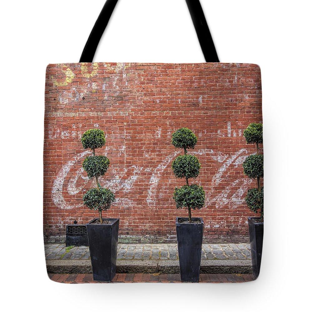 Newburyport Tote Bag featuring the photograph Coca Cola by David Stone