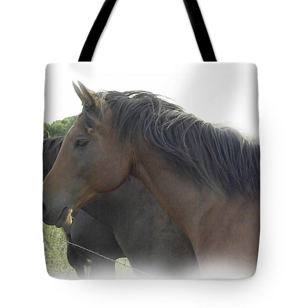 Horse Tote Bag featuring the photograph Cockle Burr Beauties by Sheri Lauren