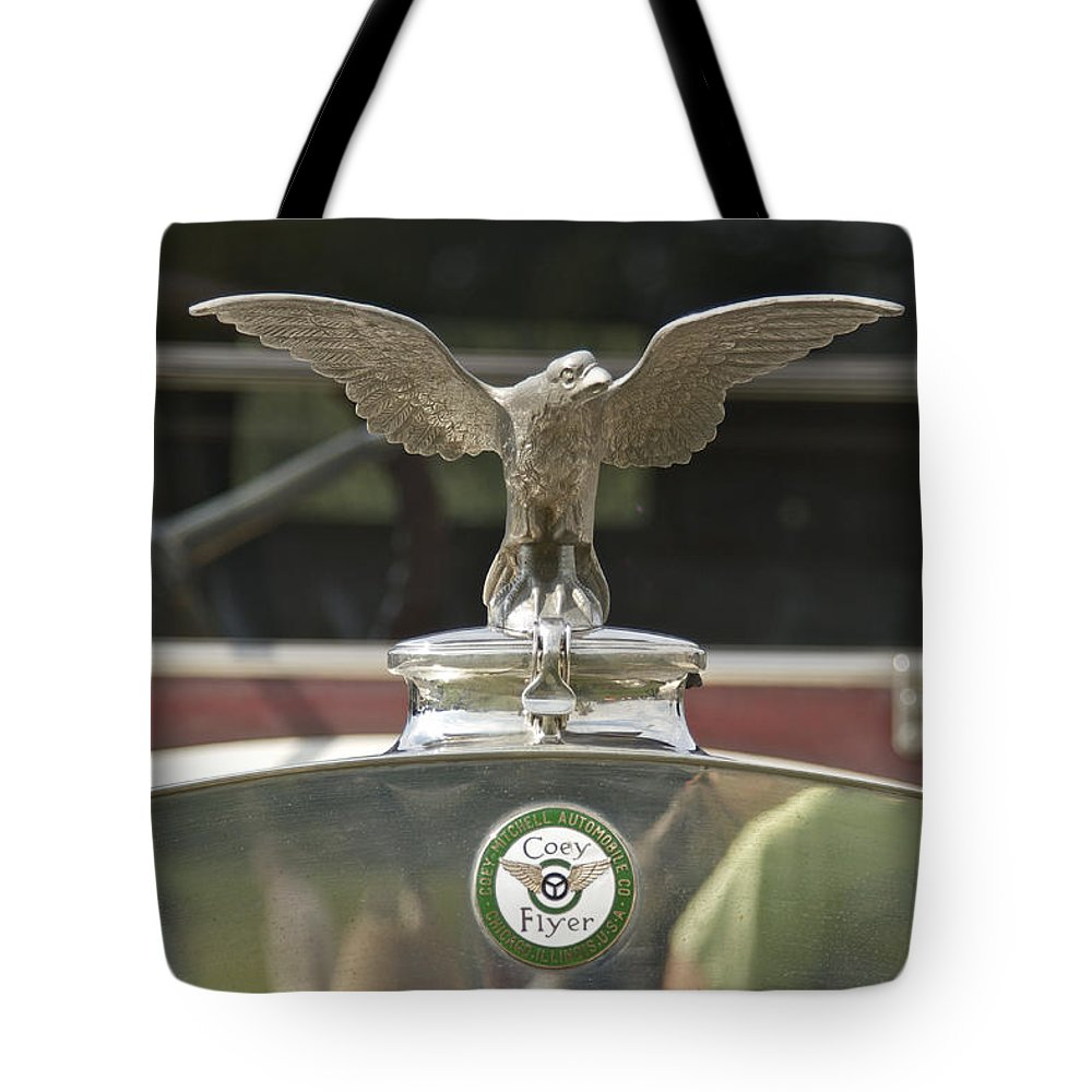 Coey Tote Bag featuring the photograph Coey Flyer by Jack R Perry