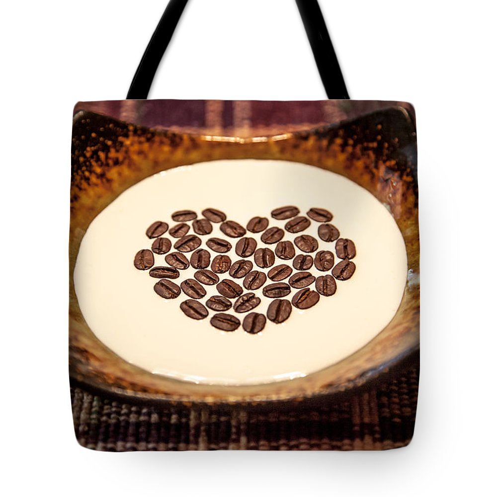 Coffee Tote Bag featuring the photograph Coffee And Cream by Aaron Aldrich