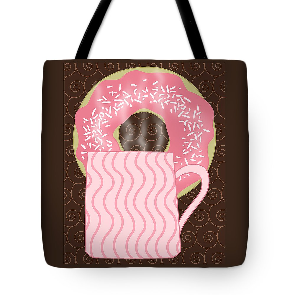 Coffee Break Tote Bag featuring the digital art Coffee Break by Alison Stein