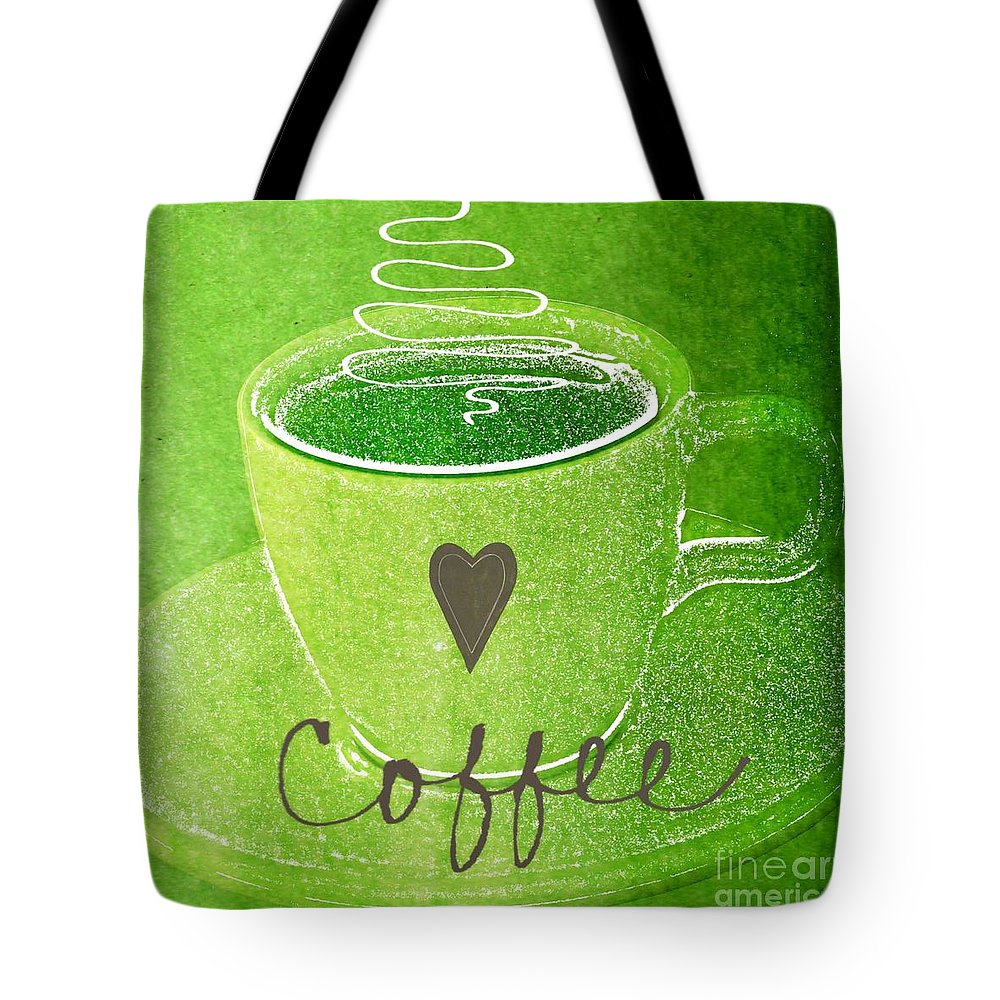 Espresso Tote Bag featuring the painting Coffee by Linda Woods