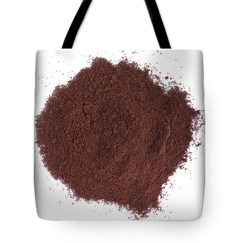 Coffee Tote Bag featuring the photograph Coffee Powder by Luis Alvarenga
