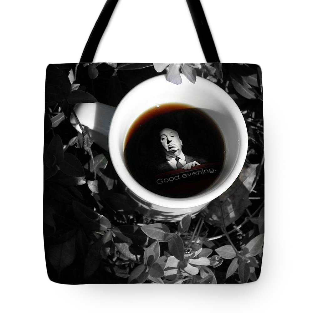 Photo Art Tote Bag featuring the photograph Coffee With Alfred by T Cook