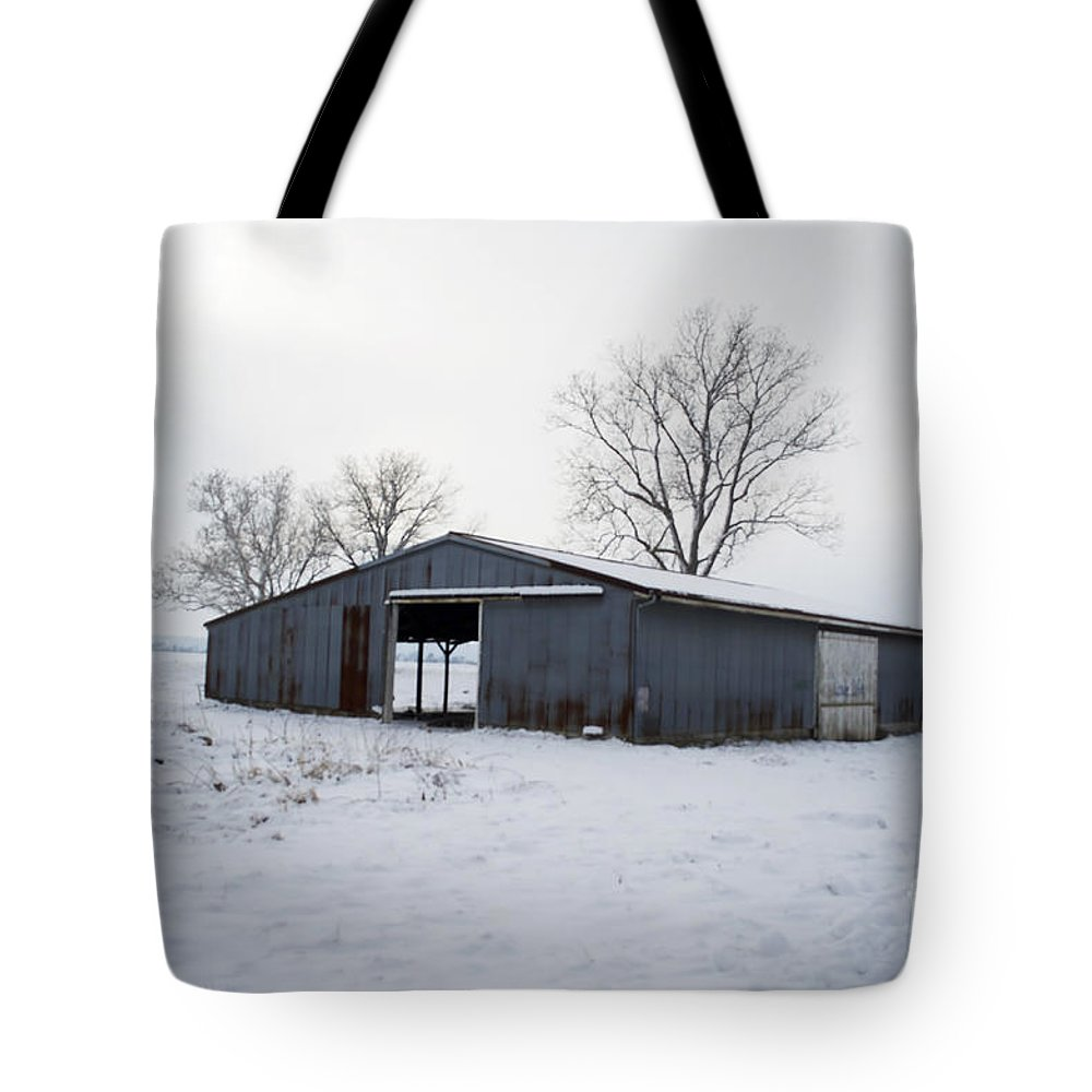 Tote Bag featuring the photograph Cold Desolation by Luther Fine Art