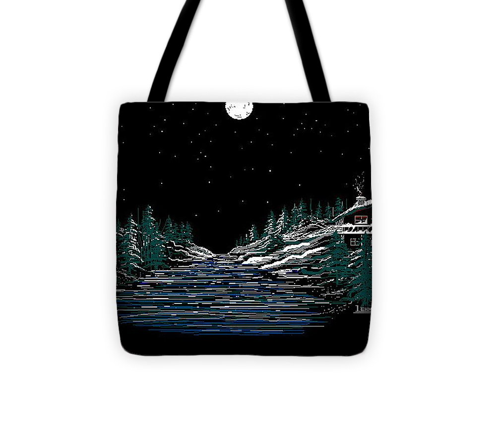 Cold Mountain Winter Tote Bag featuring the digital art Cold Mountain Winter by Larry Lehman