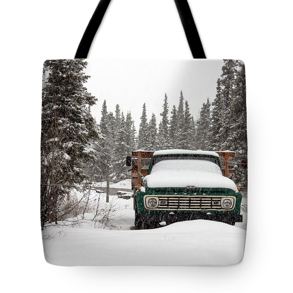 Truck Tote Bag featuring the photograph Cold Storage by Thomas Sellberg