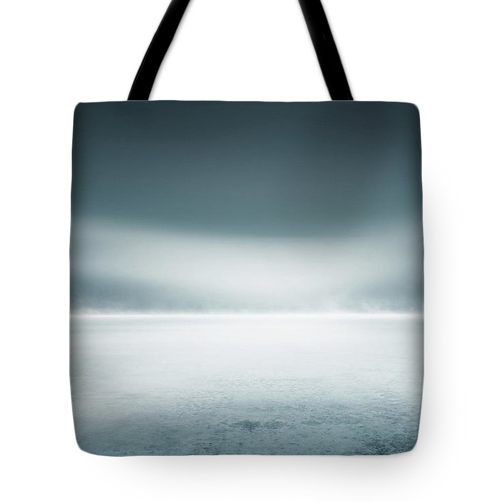 Tranquility Tote Bag featuring the digital art Cold Studio Background by Aaron Foster
