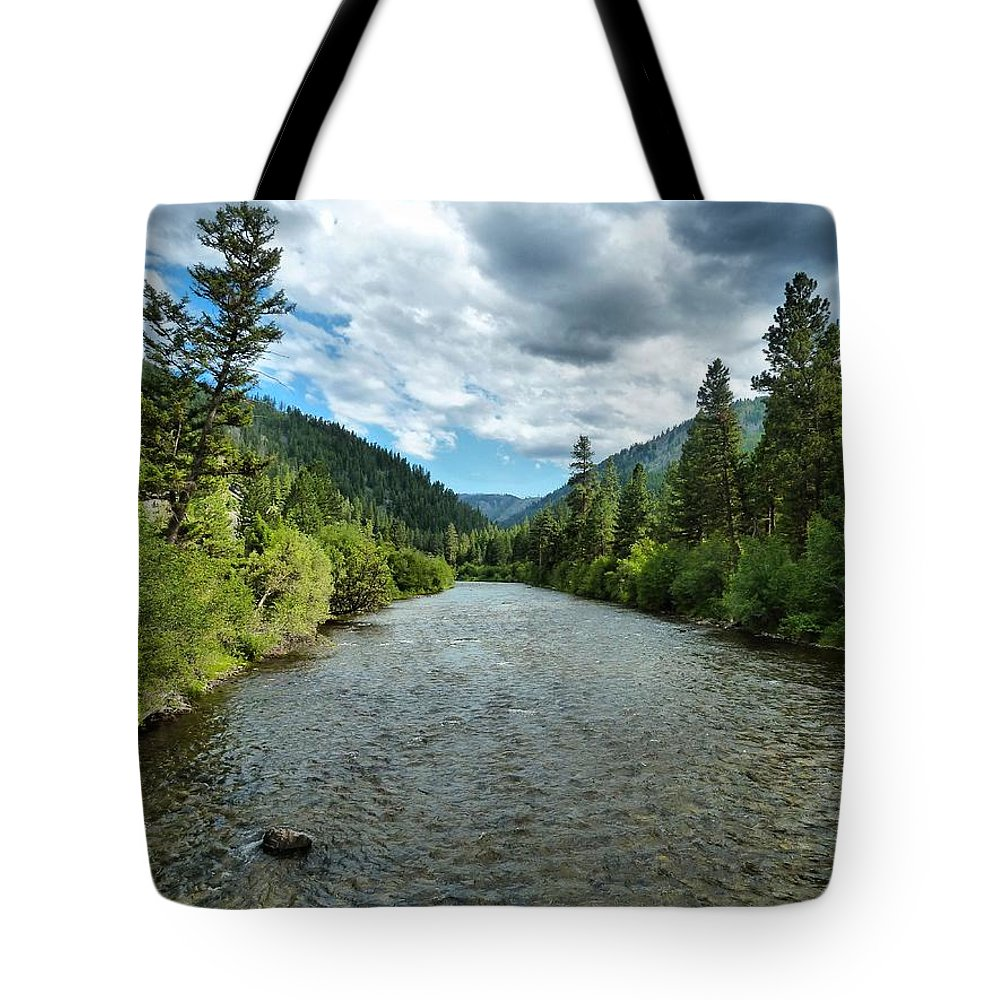 Abstract Tote Bag featuring the photograph Cold Waters by Lauren Leigh Hunter Fine Art Photography
